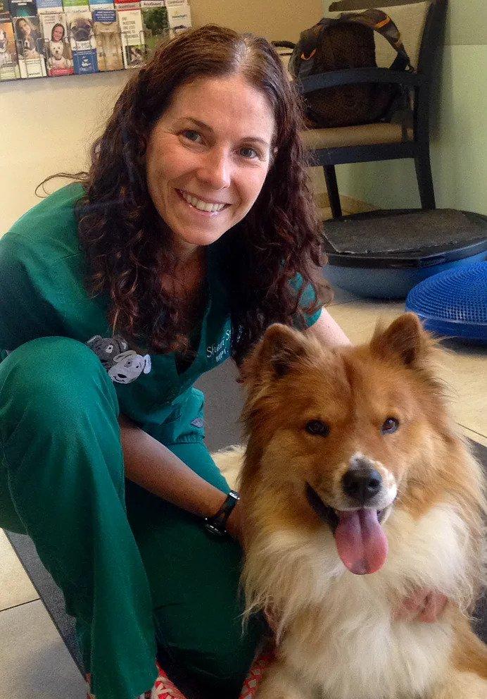 Shari with Dog   Pawsitively Unleashed Performance Canine Rehabilitation and Conditioning